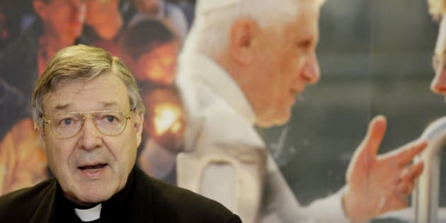 """FILE - This May 28, 2008 file photo shows Cardinal George Pell addressing a press conference for World Youth Day in Sydney, Australia. On Thursday, Feb. 28, 2013 the Vatican is playing down an Australian cardinal's comments that Pope Benedict XVI's decision to resign was """"slightly destabilizing,"""" saying cardinals are not media savvy. Cardinal George Pell told Australian Broadcasting Corp. that the pope """"was well aware that this was a break with tradition, slightly destabilizing."""" The comments were interpreted by the Italian media as unusual criticism of the pope. (AP Photo/Mark Baker, files)"""