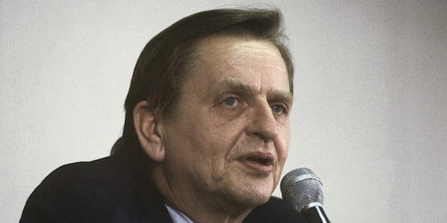 Olof Palme special U.N envoy to the Middle East; leader of Sweden?s Social Democratic Party speaking in 1980.  (AP Photo)