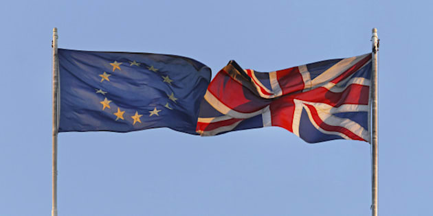 EU and UK flags coalition together