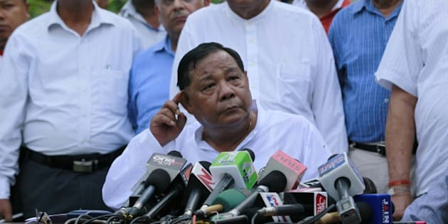 'NEW DELHI, INDIA - JULY 22: P.A. Sangma during the press conference after the result was announced. For Presidential Election, at his House on July 22, 2012 in New Delhi, India. He also Congratulating Pranab Mukherjee for winning the presidential poll. Photo by Raj K Raj/Hindustan Times '