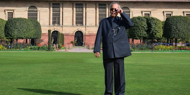 Indian President Pranab Mukherjee poses in the Mughal Gardens at the President's House in New Delhi on February 11, 2016. AFP PHOTO / Chandan KHANNA / AFP / Chandan Khanna        (Photo credit should read CHANDAN KHANNA/AFP/Getty Images)