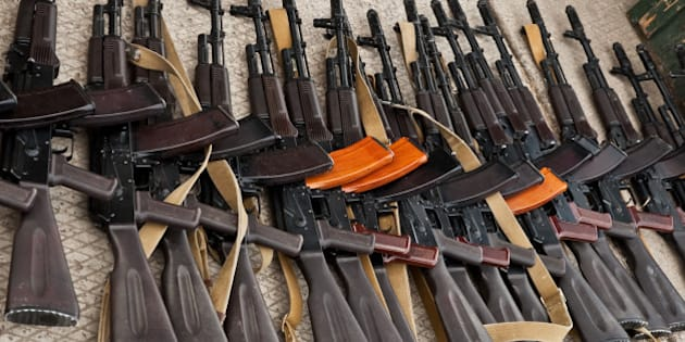 detained party of illegal weapons
