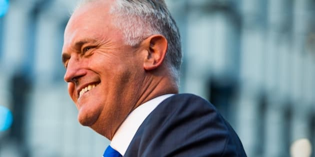 MELBOURNE, AUSTRALIA - FEBRUARY 27 :   Australian Prime Minster Malcolm Turnbull smiles during a Greek community Festival where attempts were made to disrupt his speech by Let Them Stay activists in Melbourne, Australia on February 27, 2016. (Photo by Asanka Brendon Ratnayake/Anadolu Agency/Getty Images)