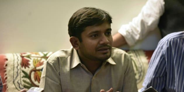 NEW DELHI, INDIA - MARCH 4: Jawaharlal Nehru University Students Union President Kanhaiya Kumar having interaction with media persons at his guides residence at JNU Campus on March 4, 2016 in New Delhi, India. Kanhaiya Kumar was granted interim bail for six months by the Delhi High Court after spending 20 days in jail. Kumar was arrested on February 12 on charges of sedition and criminal conspiracy after alleged anti-national slogans were raised on the JNU campus on February 9. (Photo by Vipin Kumar/Hindustan Times via Getty Images)