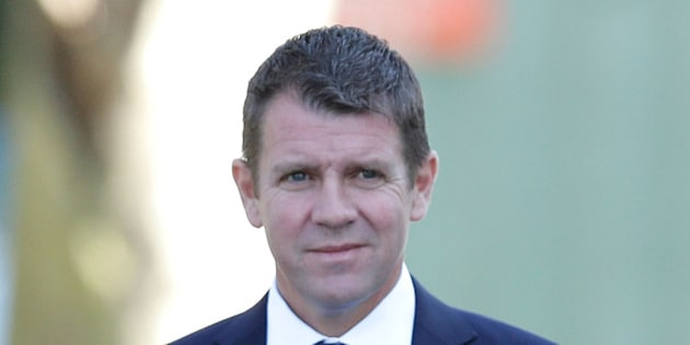 SYDNEY, AUSTRALIA - SEPTEMBER 07:  NSW Premier, Mike Baird arrives at the State Funeral Service for Australian horse racing trainer Bart Cummings at St Mary's Cathedral on September 7, 2015 in Sydney, Australia. Cummings passed away on August 30th in Sydney. He won a record 12 Melbourne Cups as trainer and is known as the 'Cups King'.  (Photo by Mark Metcalfe/Getty Images)
