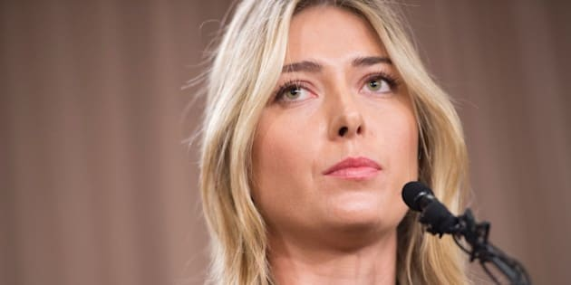 Russian tennis player Maria Sharapova speaks at a press conference in Los Angeles, on March 7, 2016.  