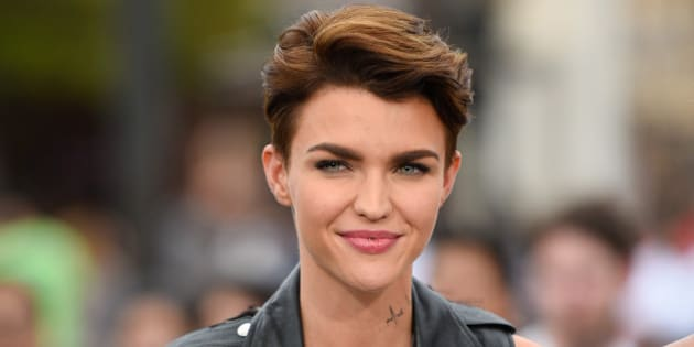 UNIVERSAL CITY, CA - JULY 08:  Ruby Rose visits 'Extra' at Universal Studios Hollywood on July 8, 2015 in Universal City, California.  (Photo by Noel Vasquez/Getty Images)