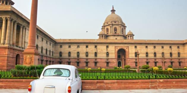 Rashtrapati Bhavan . Large imperial building in New Delhi.