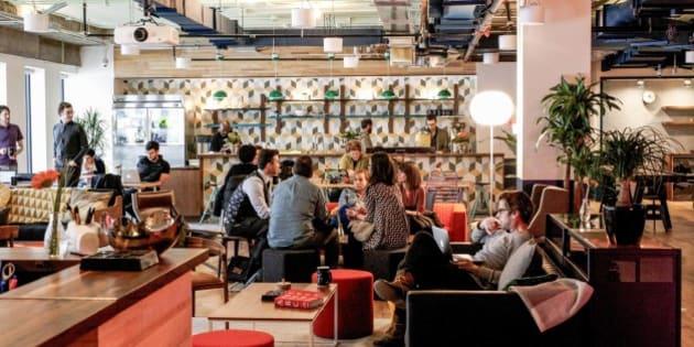 Wework un nouvel espace de travail collaboratif for Espace de travail collaboratif