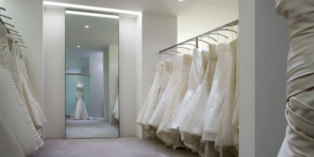 Vera Wang Wedding Shop, Selfridgeslondon, United Kingdom, Architect Russell Jones, Vera Wang Wedding Shop Shop Interior. (Photo by View Pictures/UIG via Getty Images)