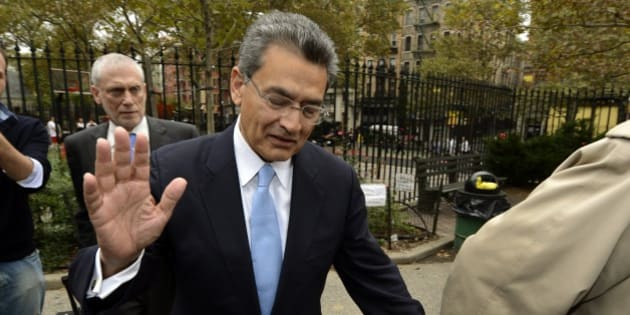 Former head of global consulting firm McKinsey & Co. and former director at Goldman Sachs Group, Rajat Gupta arrives at  federal court  in New York, October 24, 2012  to be sentenced for passing secrets he learned, while serving on the board of directors of Goldman Sachs. AFP PHOTO / TIMOTHY A. CLARY        (Photo credit should read TIMOTHY A. CLARY/AFP/Getty Images)
