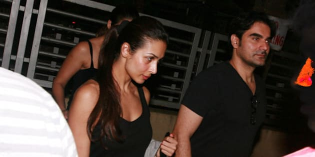 MUMBAI, INDIA – JUNE 03: Malaika Arora Khan and Arbaaz Khan spotted outside PVR cinemas in Mumbai.(Photo by Milind Shelte/India Today Group/Getty Images)