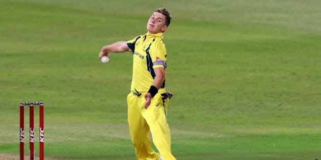 Australian bowler Adam Zampa delivers a ball during the first T20 cricket match against South Africa at Kingsmead stadium on March 4, 2016 in Durban.  / AFP / ANESH DEBIKY        (Photo credit should read ANESH DEBIKY/AFP/Getty Images)