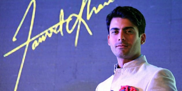 Pakistani film and television actor Fawad Afzal Khan poses during the launch of the new Giovanni FW15 collection in Mumbai on July 14, 2015.  AFP PHOTO        (Photo credit should read STRDEL/AFP/Getty Images)