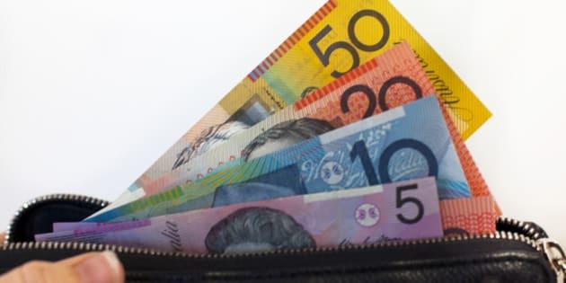 Australian Money Notes in Wallet