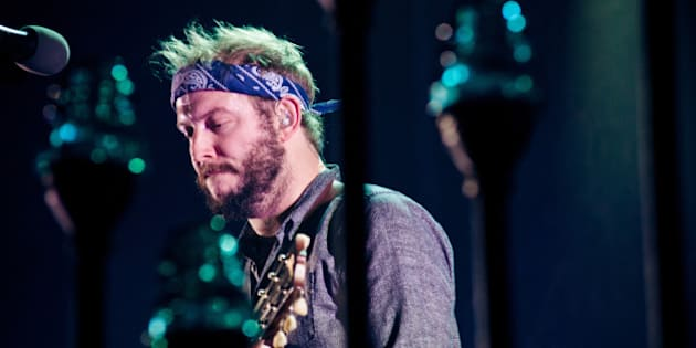 BERLIN, GERMANY - NOVEMBER 5: Justin Vernon of the band Bon Iver performs live during a concert at Arena on November 5 2012 in Berlin, Germany. (Photo by Anne-Helene Lebrun / Redferns via Getty Images)