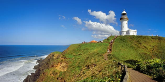 Cliff walk and lighthouse, Byron Bay, Cape Byron, New South Wales, Australia