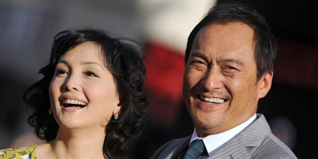 HOLLYWOOD, CA - MAY 08:  Actor Ken Watanabe (R) and Kaho Minami arrive at the Los Angeles premiere of 'Godzilla' at Dolby Theatre on May 8, 2014 in Hollywood, California.  (Photo by Axelle/Bauer-Griffin/FilmMagic)
