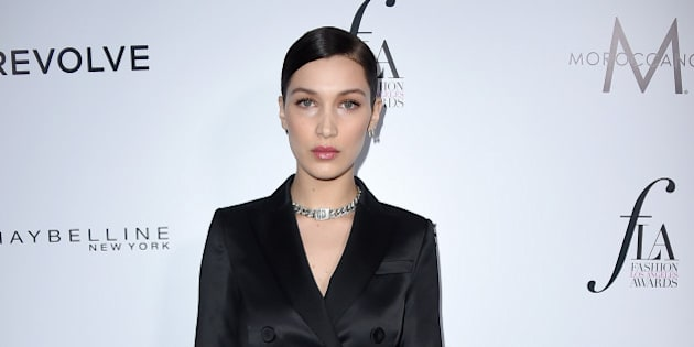 Bella Hadid arrives at Daily Front Row's Fashion Los Angeles Awards at the Sunset Tower hotel on Sunday, March 20, 2016. (Photo by Jordan Strauss/Invision/AP)