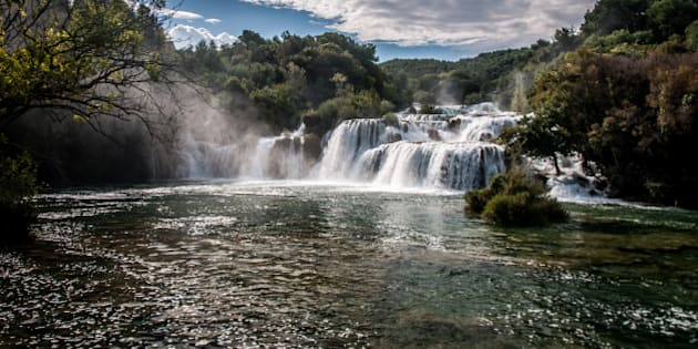 Krka is a river in Croatia's Dalmatia region, noted for its numerous waterfalls.