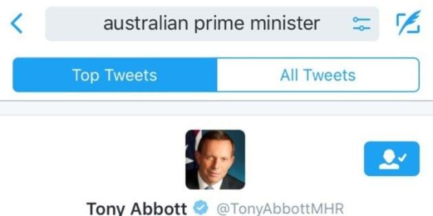 Twitter still thinks tony abbott is the australian prime minister malvernweather Image collections