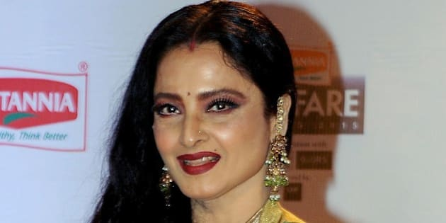 Indian Bollywood actor Rekha attends the '61st Filmfare Awards 2016' ceremony in Mumbai on January 15, 2016.   AFP PHOTO / AFP / STR        (Photo credit should read STR/AFP/Getty Images)