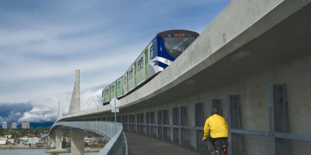 Canada Line skytrain bridge, Vancouver, British Columbia