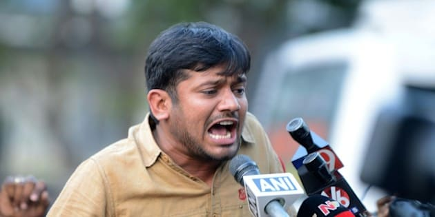 Student leader of India's Jawaharlal Nehru University (JNU)Kanhaiya Kumar speaks to the media at Hyderabad Central University in Hyderabad on March 23, 2016. Jawaharlal Nehru University (JNU)Delhi student leader Kanhaiya Kumar, who is on bail on sedition charges, arrived in Hyderabad to join protesting Hyderabad University students who are demanding that their vice-chancellor resign.   / AFP / NOAH SEELAM        (Photo credit should read NOAH SEELAM/AFP/Getty Images)