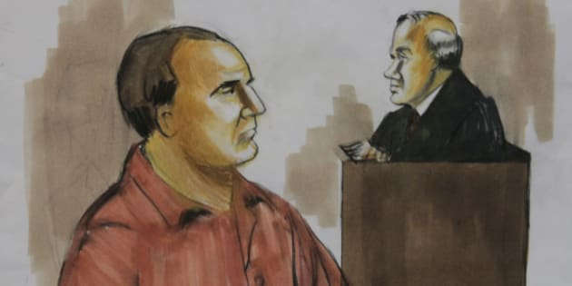 FILE - In this Wednesday, Dec. 9, 2009 courtroom drawing, David Coleman Headley, left, pleads not guilty before U.S. District Judge Harry Leinenweber, in Chicago to charges that accuse him of conspiring in the deadly 2008 terrorist attacks in the Indian city of Mumbai and of planning to launch an armed assault on a Danish newspaper. Headley, who pleaded guilty in U.S. federal court to laying the groundwork for the attack, told Indian interrogators in June that officers from Pakistan's Inter-Services Intelligence agency were deeply intertwined with Lashkar-e-Taiba. (AP Photo/Verna Sadock, File)