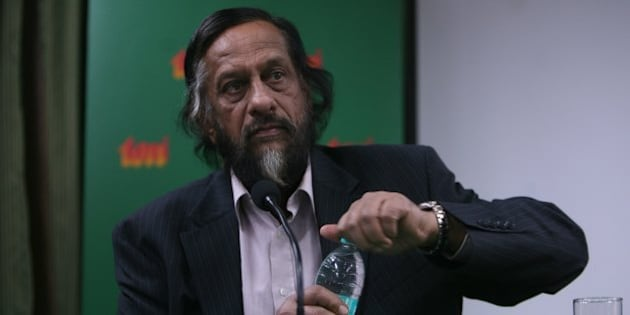 NEW DELHI, INDIA - JANUARY 23: Director General of the Energy and Resources Institute (TERI) RK Pachauri addresses mediapersons in New Delhi on Saturday. (Photo by Parveen Negi/India Today Group/Getty Images)