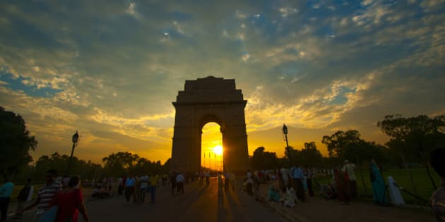The India gate also called as all Indian War Memorial is a memorial of soldiers who died in the first world war. New Delhi, India