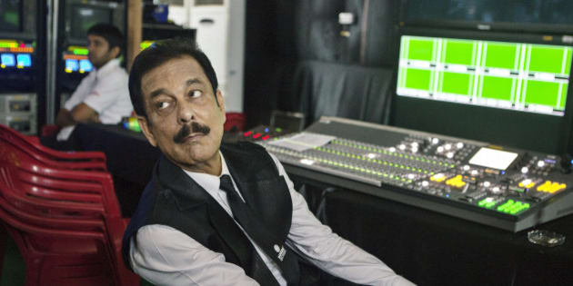 Subrata Roy, chairman of Sahara Group, observes from a media room during the company's attempt to break the Guinness World Record for the number of people singing the national anthem in one place in Lucknow, India, on Monday, May 6, 2013. Roy's closely held Sahara India Pariwar group of companies includes real estate developers, insurers, media assets and sports teams. Photographer: Prashanth Vishwanathan/Bloomberg via Getty Images
