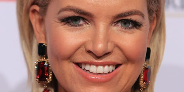 MELBOURNE, AUSTRALIA - MAY 03:  Rebecca Maddern arrives at the 57th Annual Logie Awards at Crown Palladium on May 3, 2015 in Melbourne, Australia.  (Photo by Graham Denholm/WireImage)