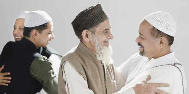 Image result for muslims hug