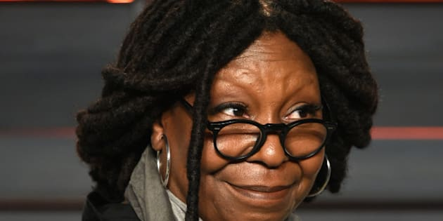 Whoopi Goldberg arrives at the Vanity Fair Oscar Party on Sunday, Feb. 28, 2016, in Beverly Hills, Calif. (Photo by Evan Agostini/Invision/AP)