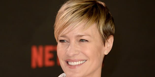 Robin Wright attending the House Of Cards Season 3 World Premiere held at The Empire Cinema, Leicester Square, London