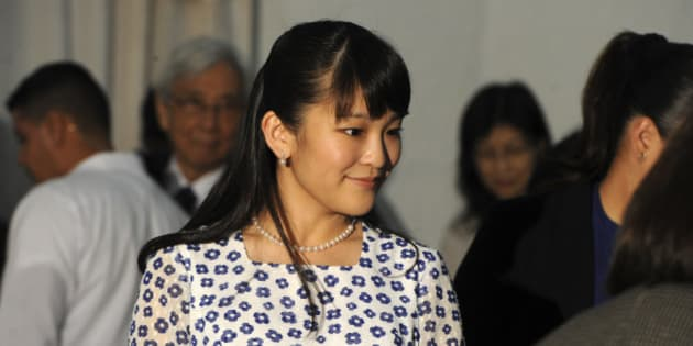 Japanese Princess Mako (C) attends a concert at the National School of Music in Tegucigalpa, on December 9, 2015.  AFP PHOTO / ORLANDO SIERRA / AFP / ORLANDO SIERRA        (Photo credit should read ORLANDO SIERRA/AFP/Getty Images)