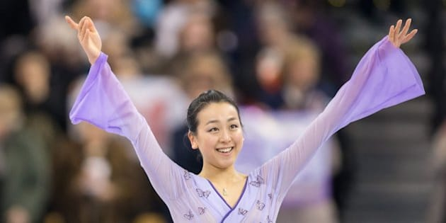 Mao Asada of Japan performs her free skate during the Ladies competition at the ISU World Figure Skating Championships at TD Garden in Boston, Massachusetts, April 2, 2016. / AFP / Geoff Robins        (Photo credit should read GEOFF ROBINS/AFP/Getty Images)
