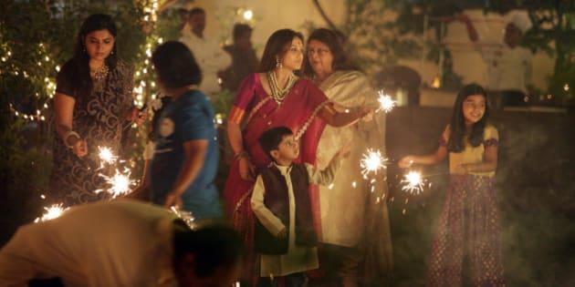 MUMBAI, INDIA  NOVEMBER 03: Rani Mukherjee celebrates diwali with Aditya Chopra at the Yashraj bungalow in Mumbai.(Photo by Milind Shelte/India Today Group/Getty Images)