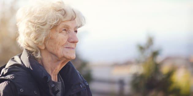 Senior Woman with Nostalgic look
