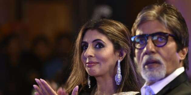 MUMBAI, INDIA - MARCH 20: (EDITOR'S NOTE: This is an exclusive shoot of Hindustan Times) Bollywood actor Amitabh Bachchan with daughter Shweta Bachchan Nanda during Hindustan Times Most Stylish Awards 2016 at Taj Lands End, Bandra on March 20, 2016 in Mumbai, India. (Photo by Satish Bate/Hindustan Times via Getty Images)