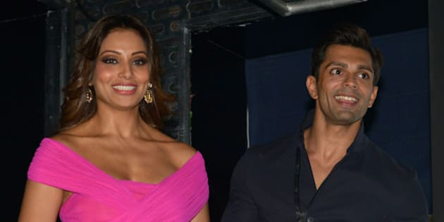 MUMBAI, INDIA  DECEMBER 22: Bipasha Basu, Karan Singh Grover at the Trailer and music launch of their upcoming movie Alone in Mumbai.(Photo by Milind Shelte/India Today Group/Getty Images)
