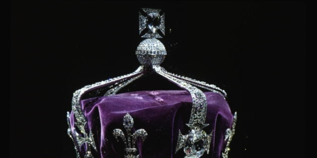LONDON, UNITED KINGDOM - APRIL 19:  The Crown Of Queen Elizabeth The Queen Mother (1937) Made Of Platinum And Containing The Famous Koh-i-noor Diamond Along With Other Gems.  (Photo by Tim Graham/Getty Images)