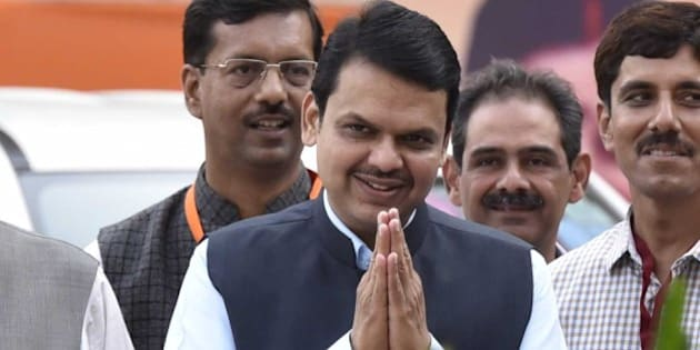 NEW DELHI, INDIA - MARCH 19: Devendra Fadnavis, Chief Minister of Maharashtra, during a party's National Executive meet, on March 19, 2016 in New Delhi, India. The two-day meeting will discuss current political situation in the country and take stock of organizational issues besides fine-tuning party's strategy for the ensuing Assembly elections in five states. (Photo by Virendra Singh Gosain/Hindustan Times via Getty Images)