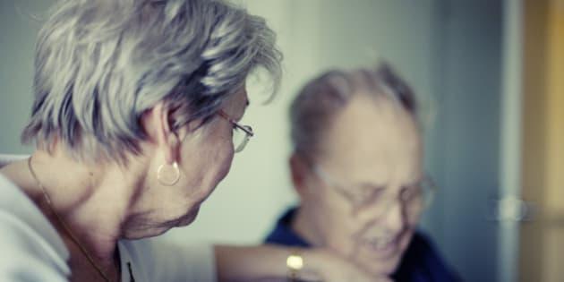 Senior couple, my parents - grief concept.