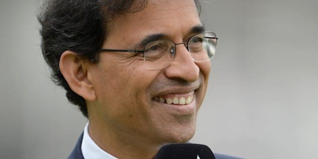LONDON, ENGLAND - JULY 20:  Star Sport commentator Harsha Bhogle during day four of 2nd Investec Test match between England and India at Lord's Cricket Ground on July 20, 2014 in London, United Kingdom.  (Photo by Gareth Copley/Getty Images)