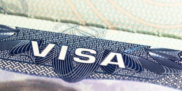 United States VISA in a european passport.