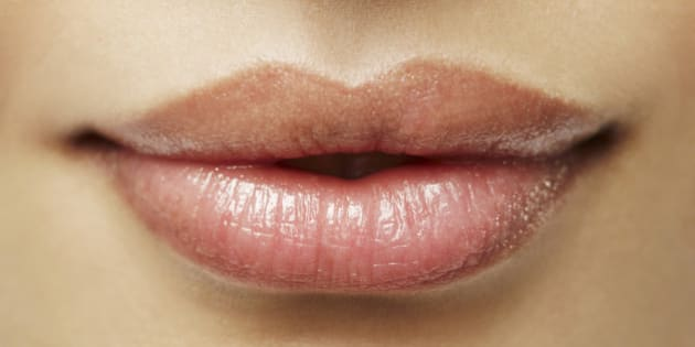 Beauty shot of lips, natural look