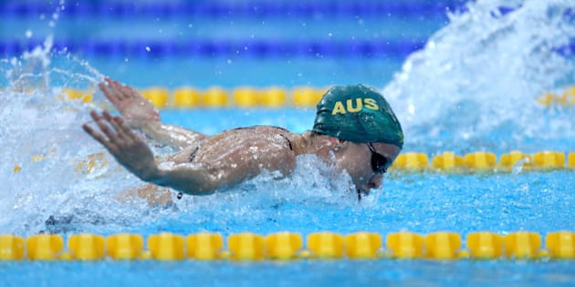 DUBAI, UNITED ARAB EMIRATES - AUGUST 31:  Marieke D'Cruz of Australia competes in the Women's 100m Butterfly heats during the FINA Swimming World Cup at Hamdan Sports Complex on August 31, 2014 in Dubai, United Arab Emirates.  (Photo by Warren Little/Getty Images)