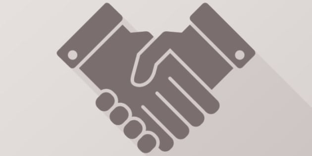 Deal handshake sign